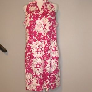 Madison Leigh Floral Cotton Pink Dress